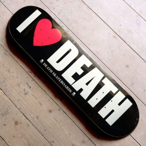 Death Skateboards I Love Death deck Main