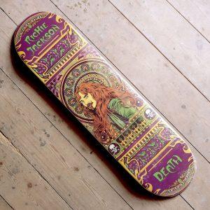 Death Skateboards RIchie Jackson Art Nouveau Deck Main
